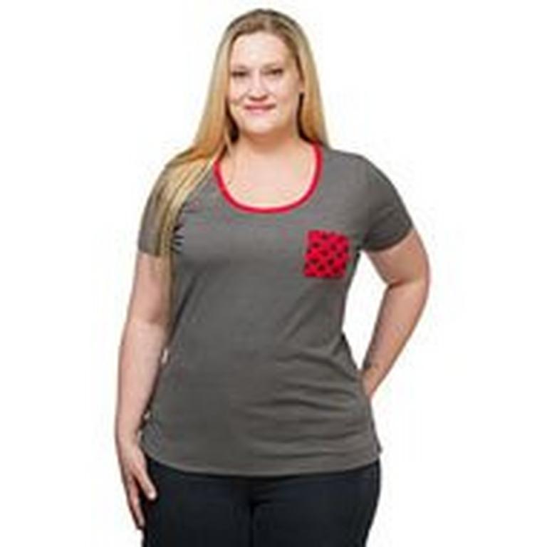 Rebel Ladies Plus Size Pocket T-Shirt