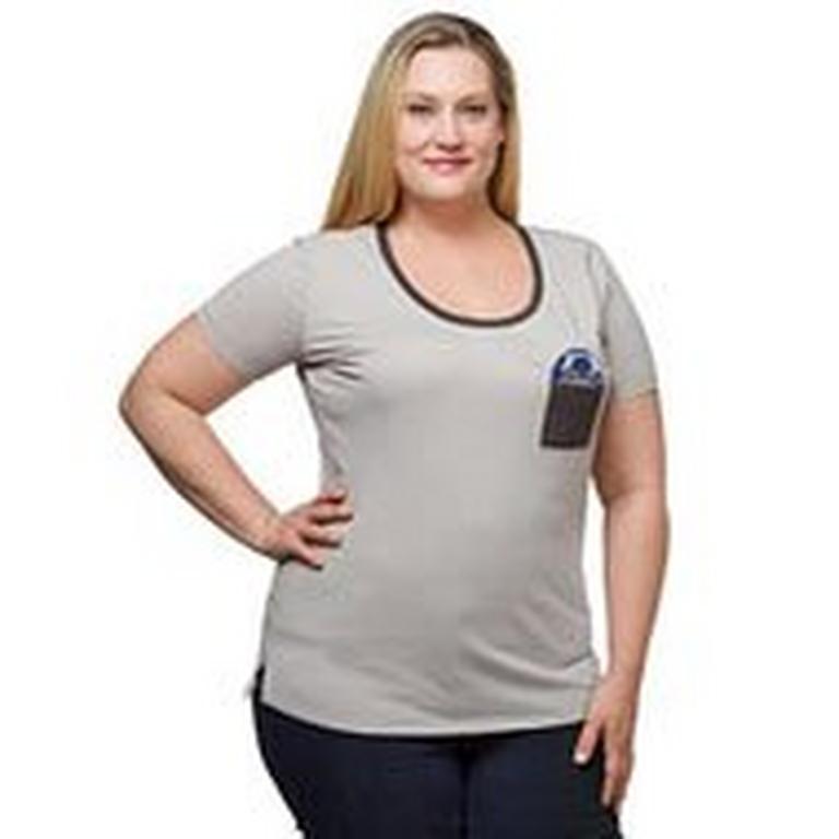 Star Wars R2-D2 Ladies Plus Size Pocket T-Shirt