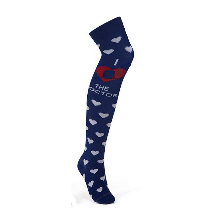 Doctor Who I Heart The Doctor Over the Knee Socks