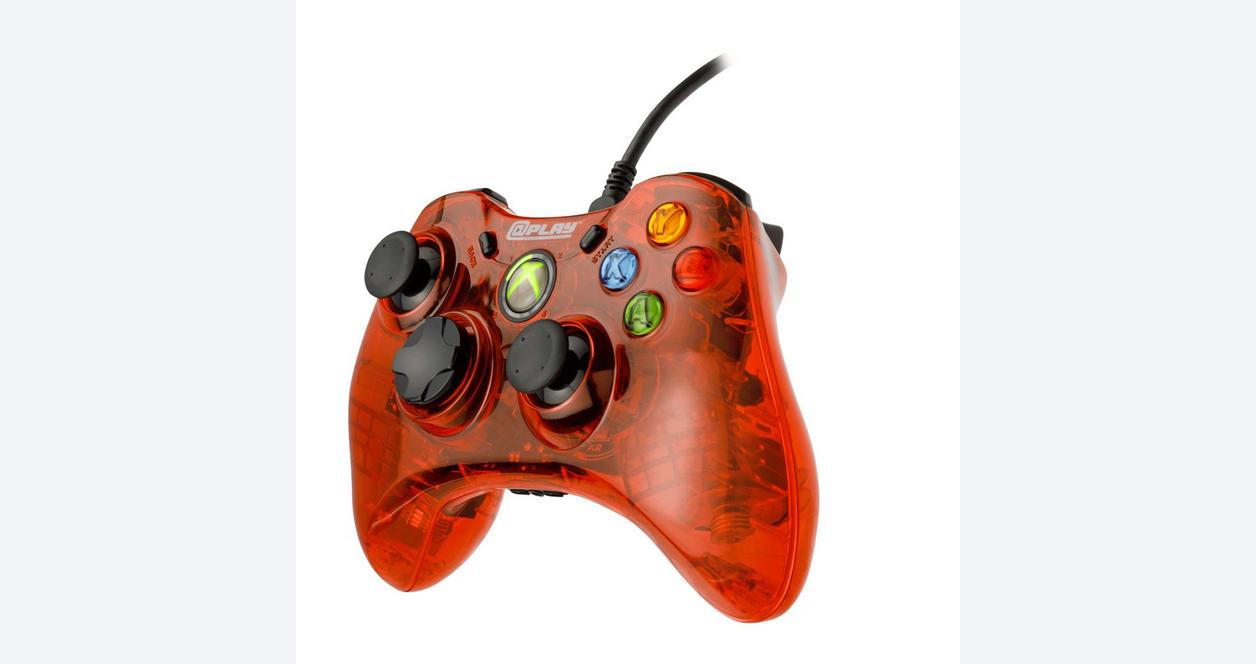 Red Wired Controller for Xbox 360