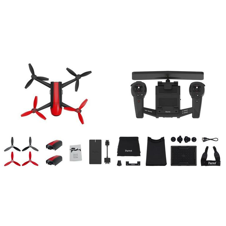 Bebop 2 Red Drone and Black Skycontroller