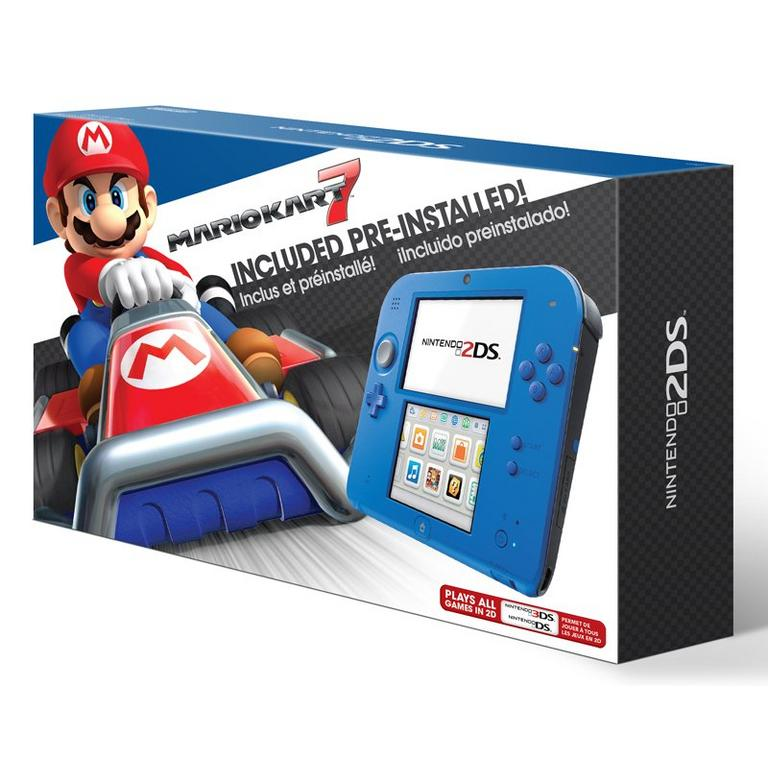 Nintendo 2DS Electric Blue Mario Kart 7 Bundle