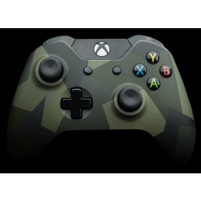 Microsoft Xbox One Green Camo Wireless Controller