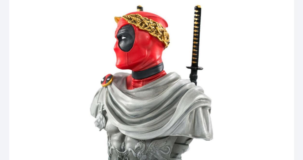 Deadpool Caesar Bust Statue