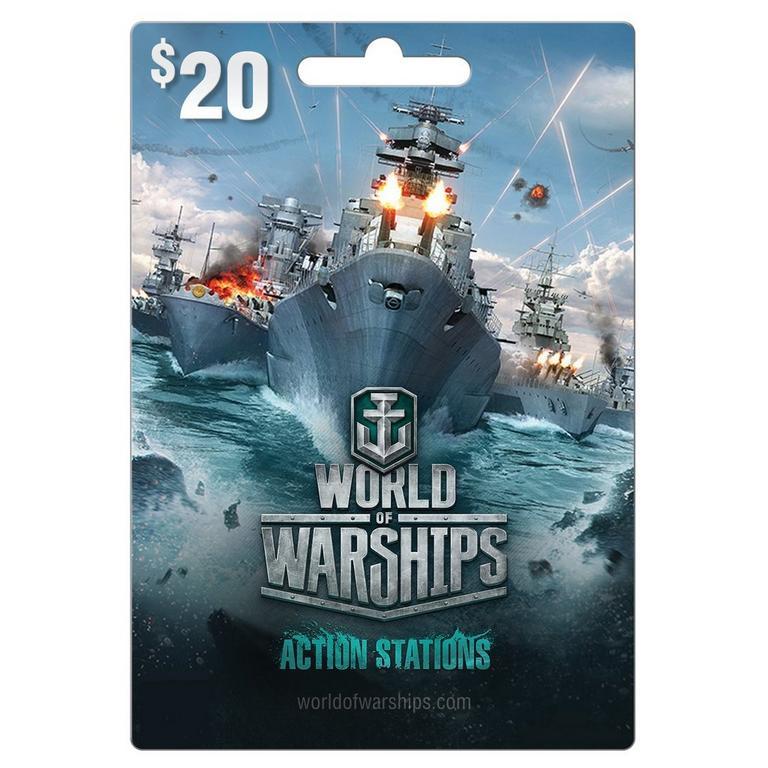 World of Warship $20 eCard