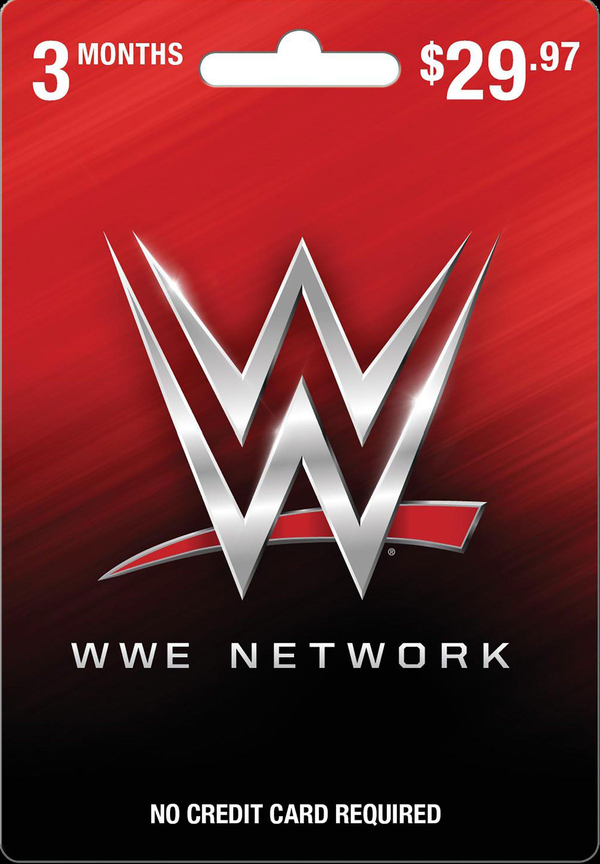 Wwe Network 3 Month Card Universal Gamestop