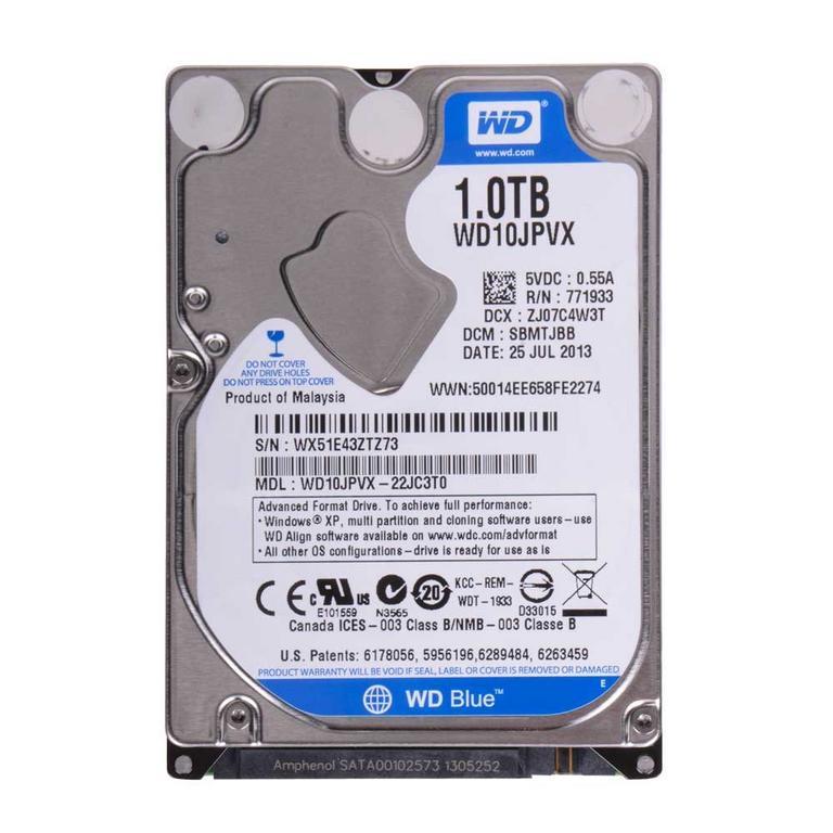 WD Blue Laptop Mainstream 1TB 5400RPM SATA II 3Gb/s 2.5 inch Internal Hard Drive