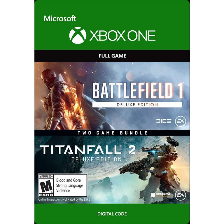 Electronic Arts Digital Battlefield 1 and Titanfall 2 Deluxe Edition Bundle Xbox One Download Now At GameStop.com!