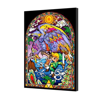 Legend of Zelda Stained Glass LED 16x24 Canvas