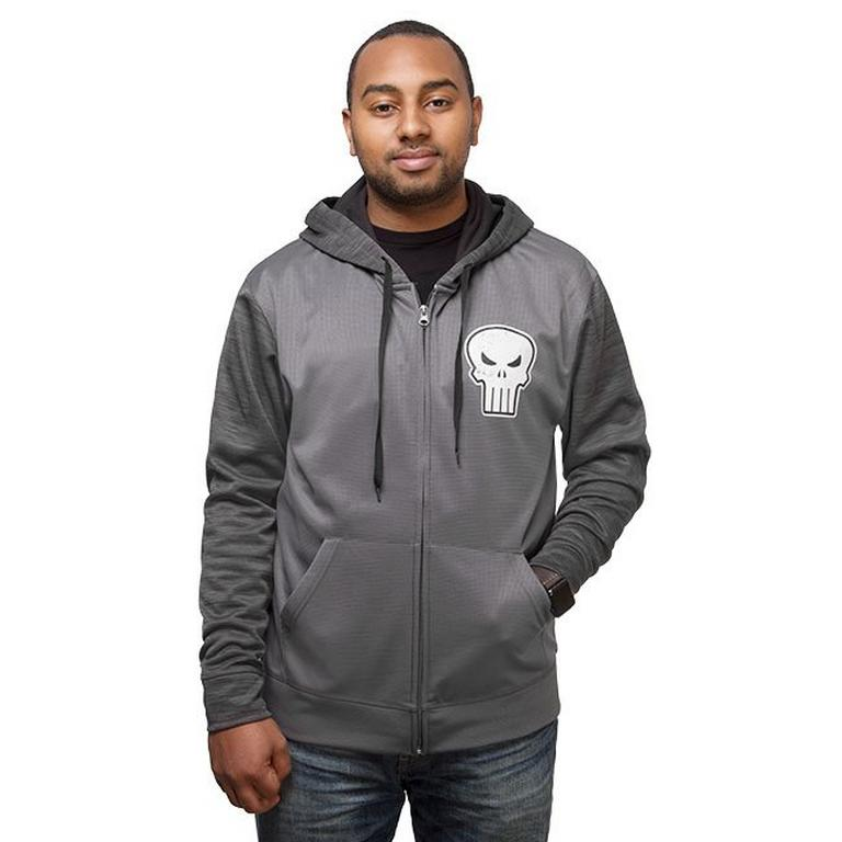 The Punisher Space Dye Zip Up Hoodie