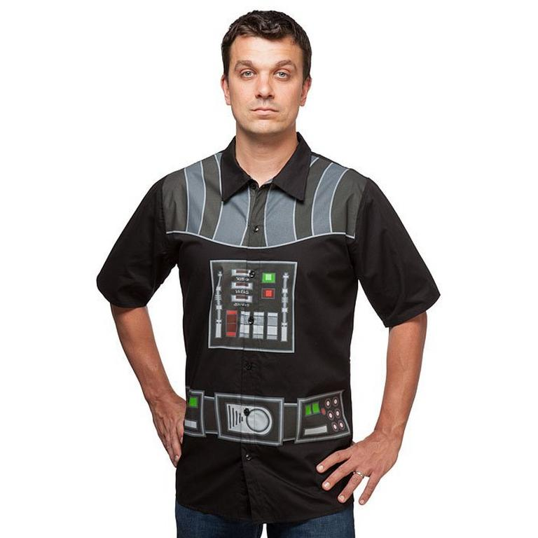 Star Wars Darth Vader Short Sleeve Button Up