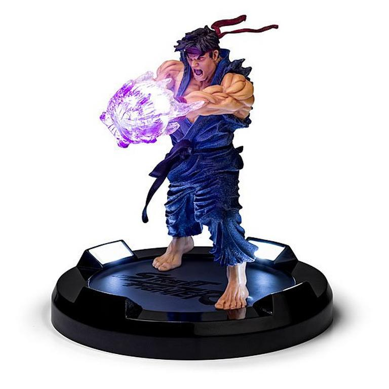 Street Fighter Ryu Collectors Statue Evil Ryu Blue