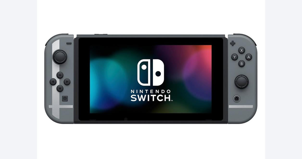 Nintendo Switch with Neon Blue and Red Joy-Con
