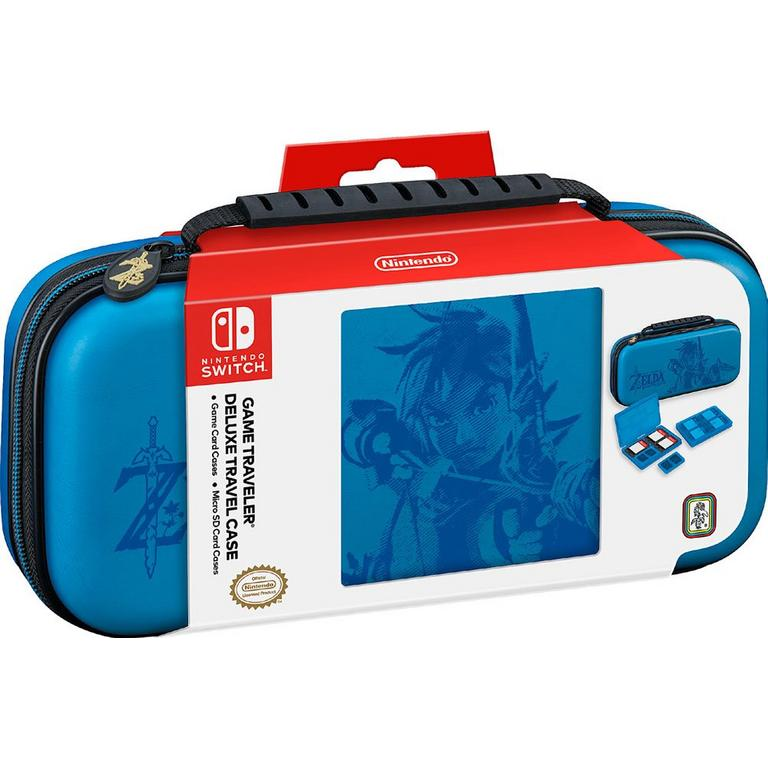 Nintendo Switch The Legend of Zelda Link Blue Game Traveler Deluxe Travel Case