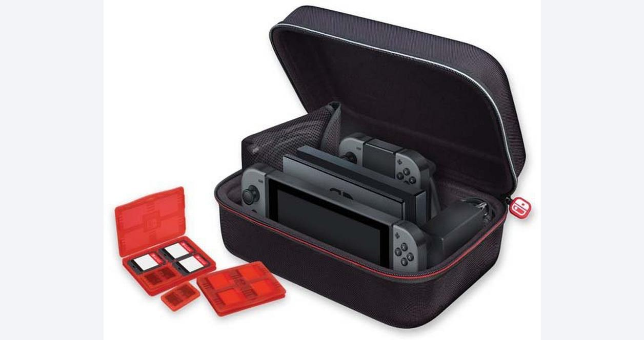 Black Game Traveler Deluxe System Case for Nintendo Switch
