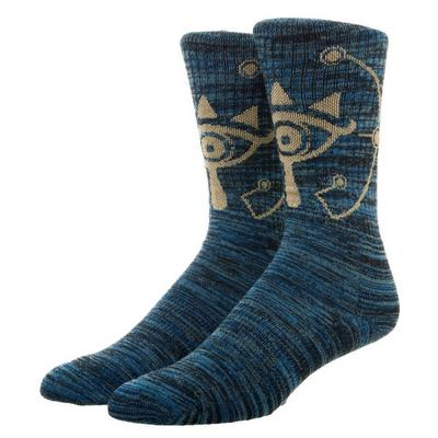 The Legend of Zelda Breath Of The Wild Shiekah Eye Tricolor Maril Mens Crew Socks