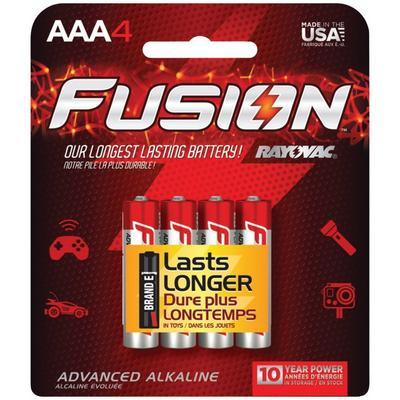 Rayovac Fusion AAA Battery 4 pack