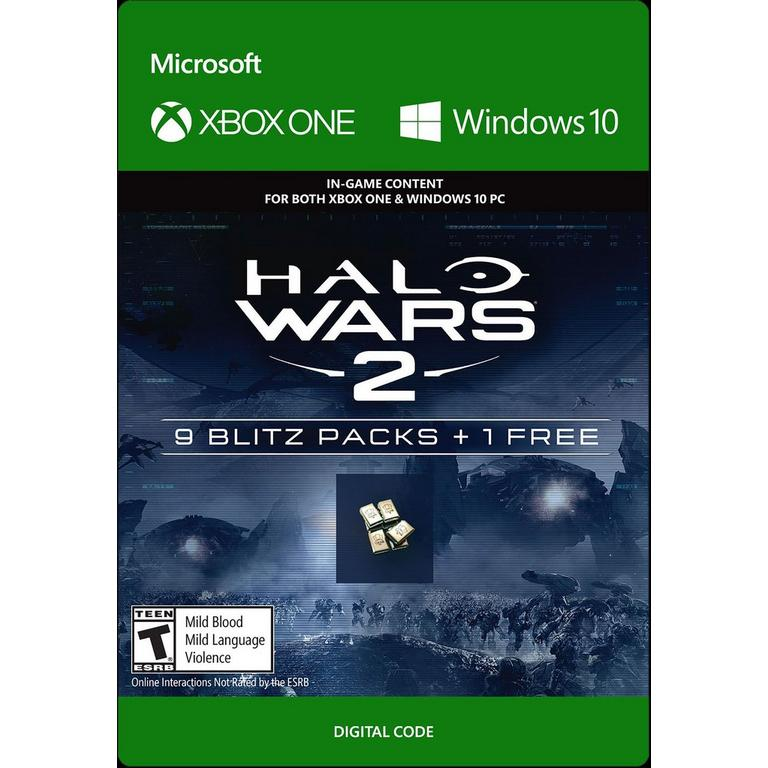 Halo Wars 2 9 Blitz Packs and 1 Free
