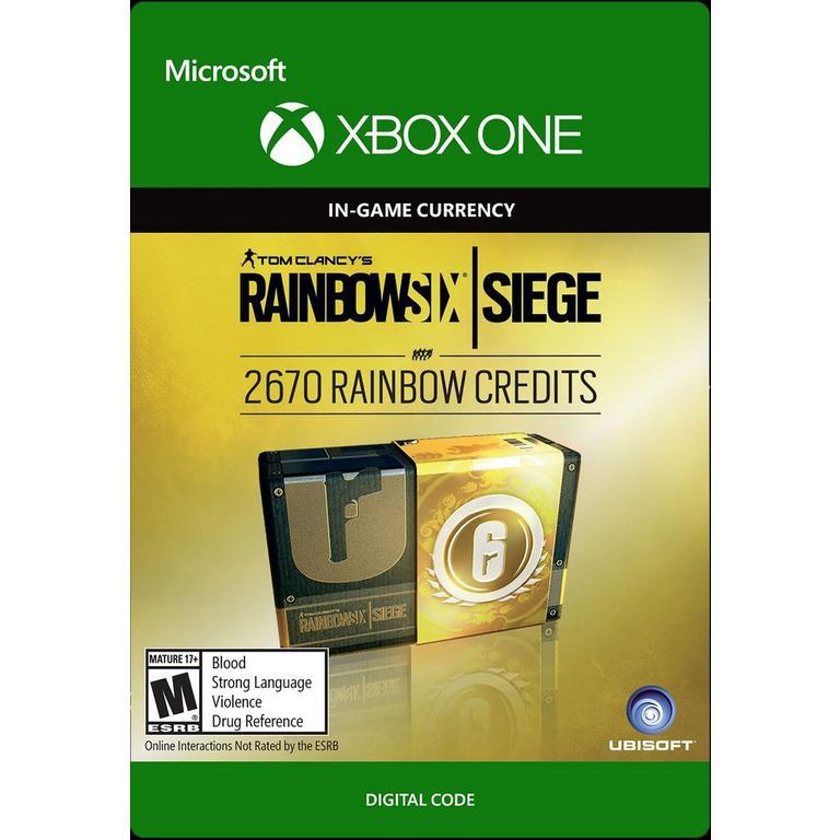 Tom Clancy's Rainbow Six: Siege 2,670 Rainbow Credits