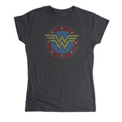 DC Wonder Woman Vintage Emblem Womens T-Shirt