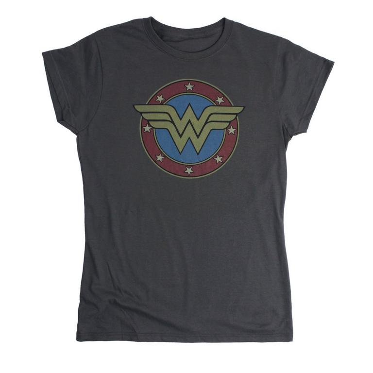 DC Wonder Woman Vintage Emblem Womens T-Shirt