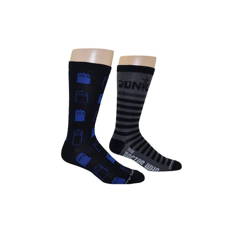 Doctor Who Crew Socks 2 Pack