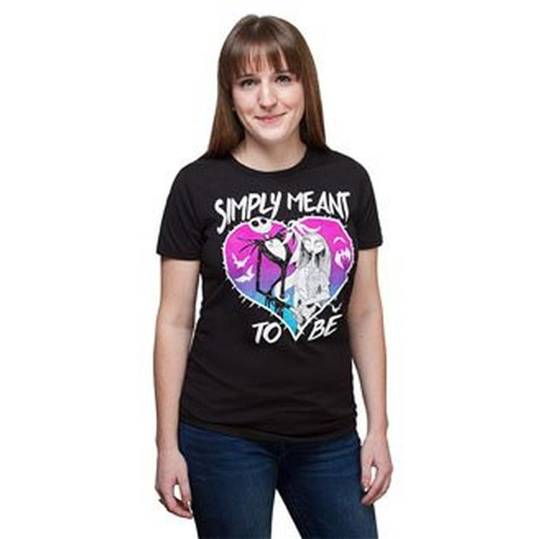 The Nightmare Before Christmas Simply Meant To Be Ladies T-Shirt