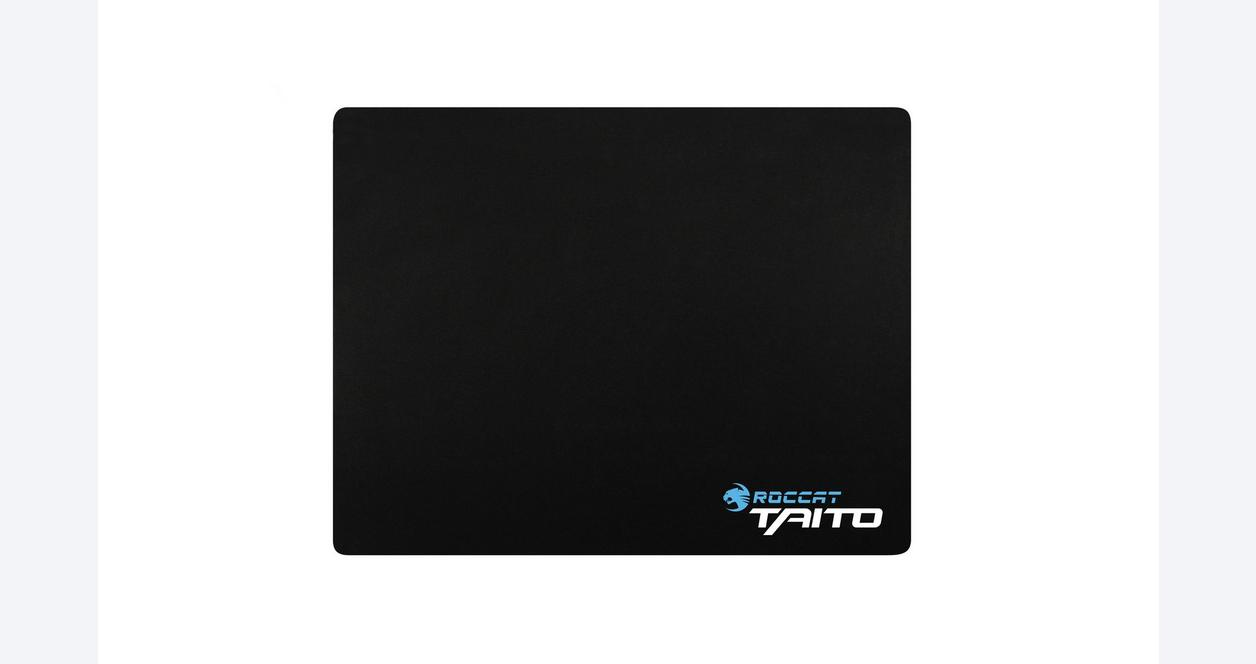 Taito 2017 Shiny Black Gaming Mousepad - Mid Size