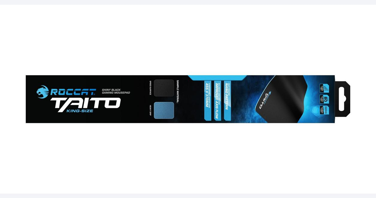 Taito 2017 Shiny Black Gaming Mousepad - XXL Wide Size