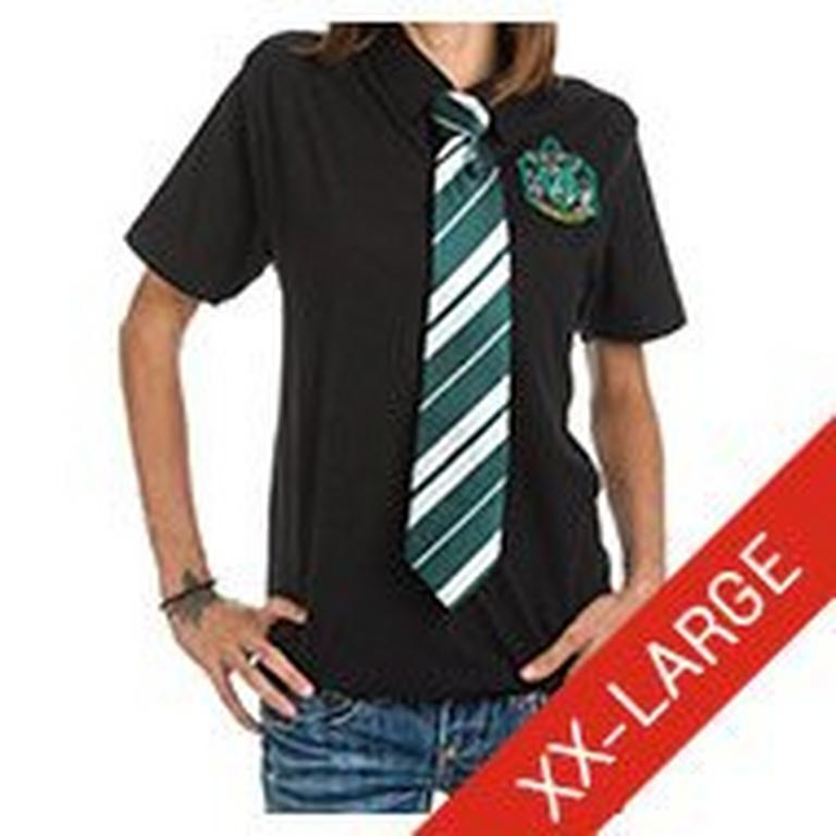 Harry Potter Slytherin Polo with Stripe Neck Tie