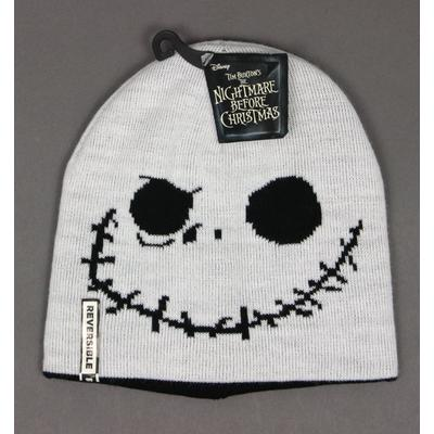 The Nightmare Before Christmas Jack Face Reversible Beanie