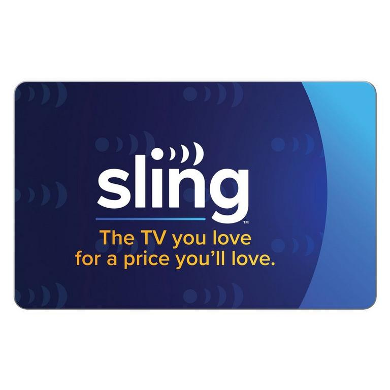 InComm Digital Sling TV $50 eCard Download Now At GameStop.com!