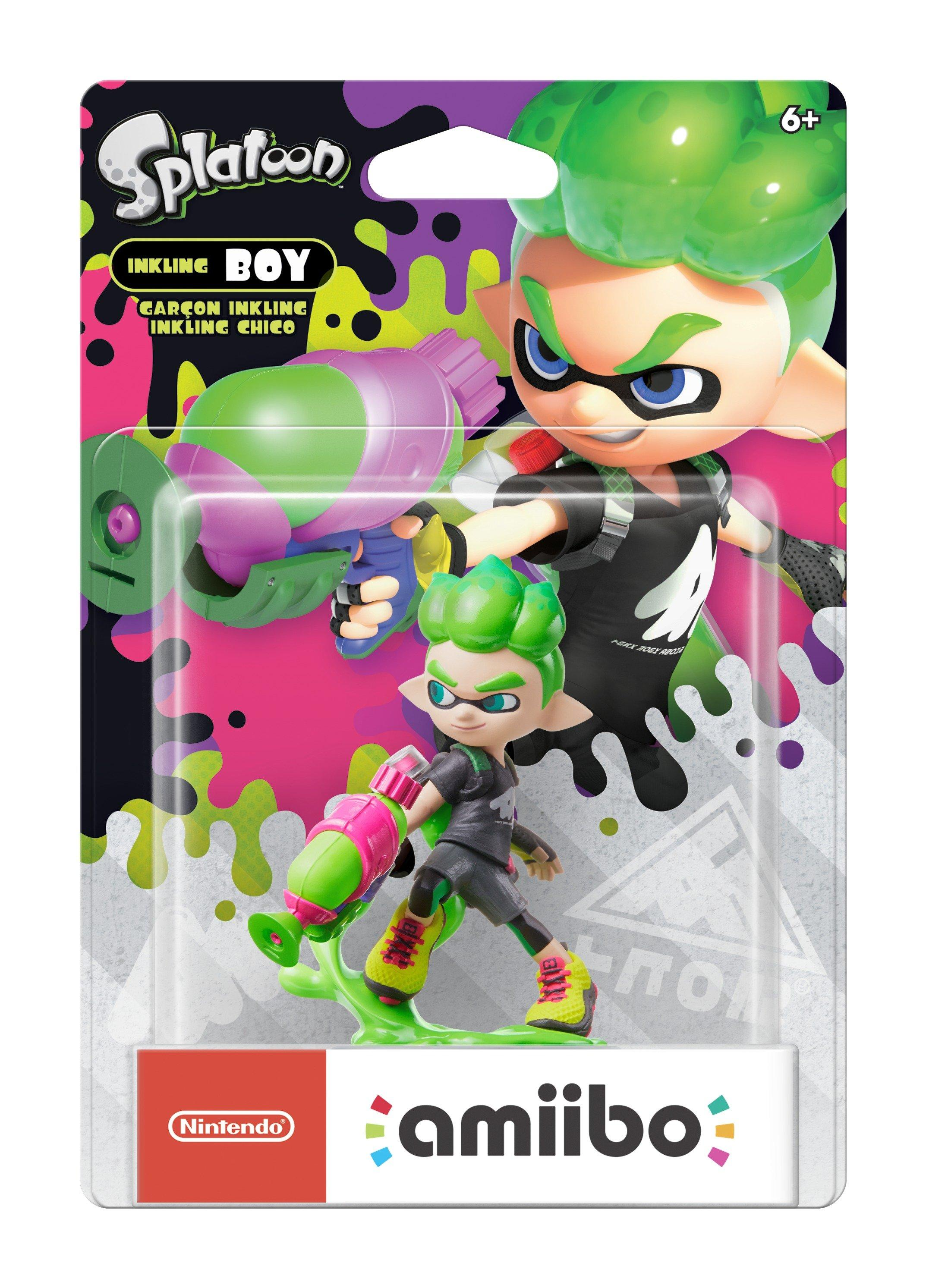 Inkling Boy (Neon Green) Splatoon 2 amiibo Figure | <%Console%> | GameStop