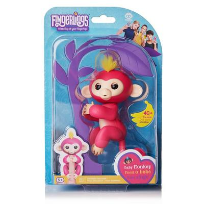 Fingerlings: Interactive Baby Monkey - Bella (Pink with Yellow Hair)