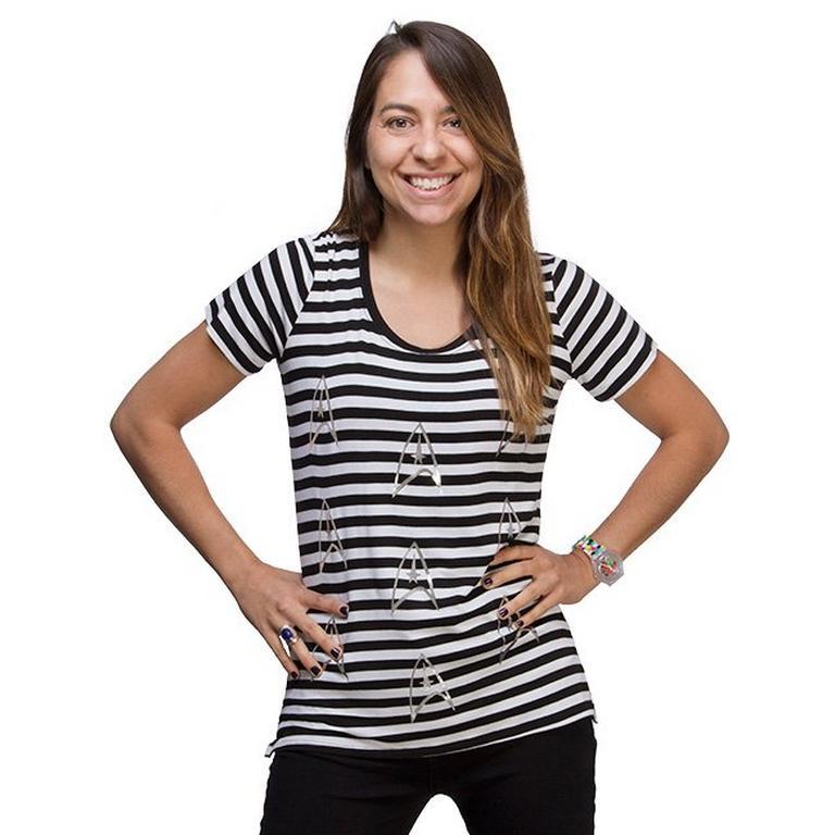 Star Trek Foil Stripe Ladies T-Shirt