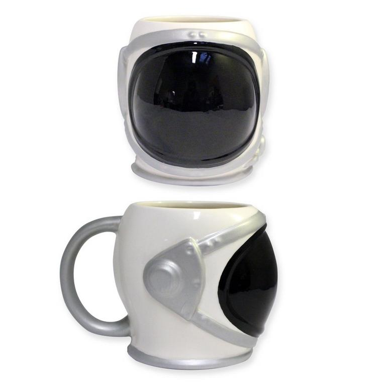 Astronaut Helmet Molded Ceramic Mug