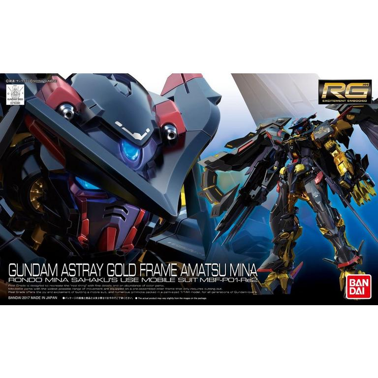 Real Grade Gundam Astray Gold Frame Amatsu Mina Model Kit