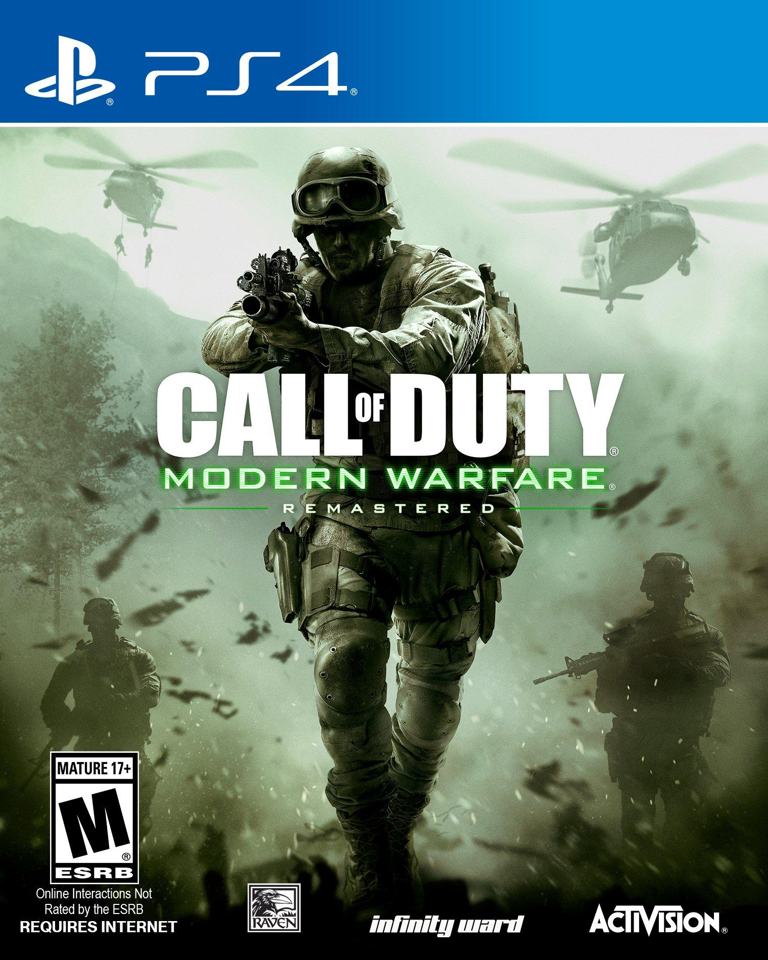 call of duty modern warfare remastered playstation 4. Black Bedroom Furniture Sets. Home Design Ideas
