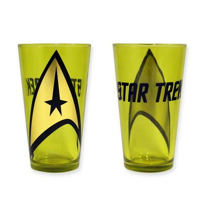 Star Trek: Gold Shield Pint Glass