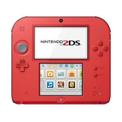 Nintendo 2DS System - Crimson Red