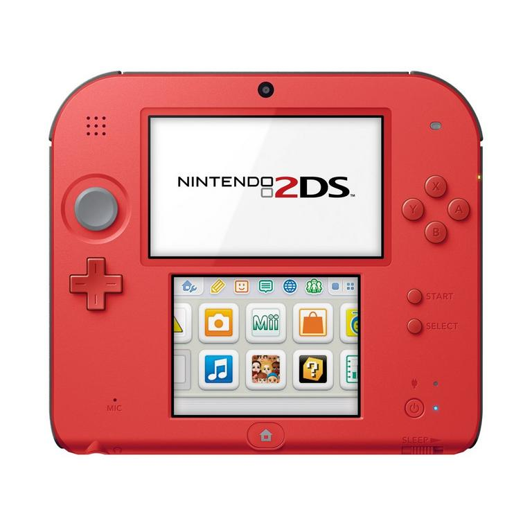 Nintendo 2DS System - Crimson Red (ReCharged Refurbished)