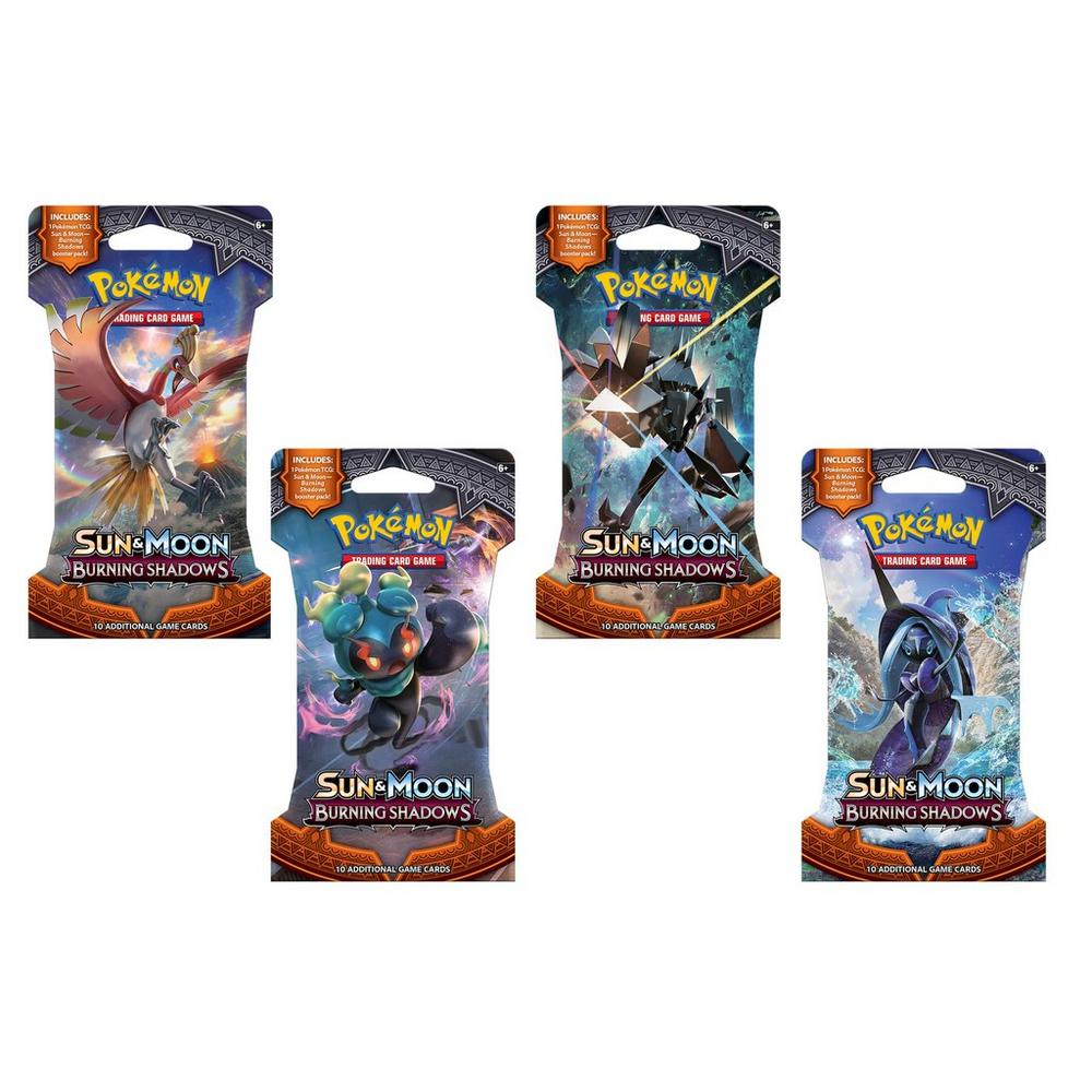 Pokemon Trading Card 4-3 Card Expansion Packs Sun /& Moon Burning Shadows
