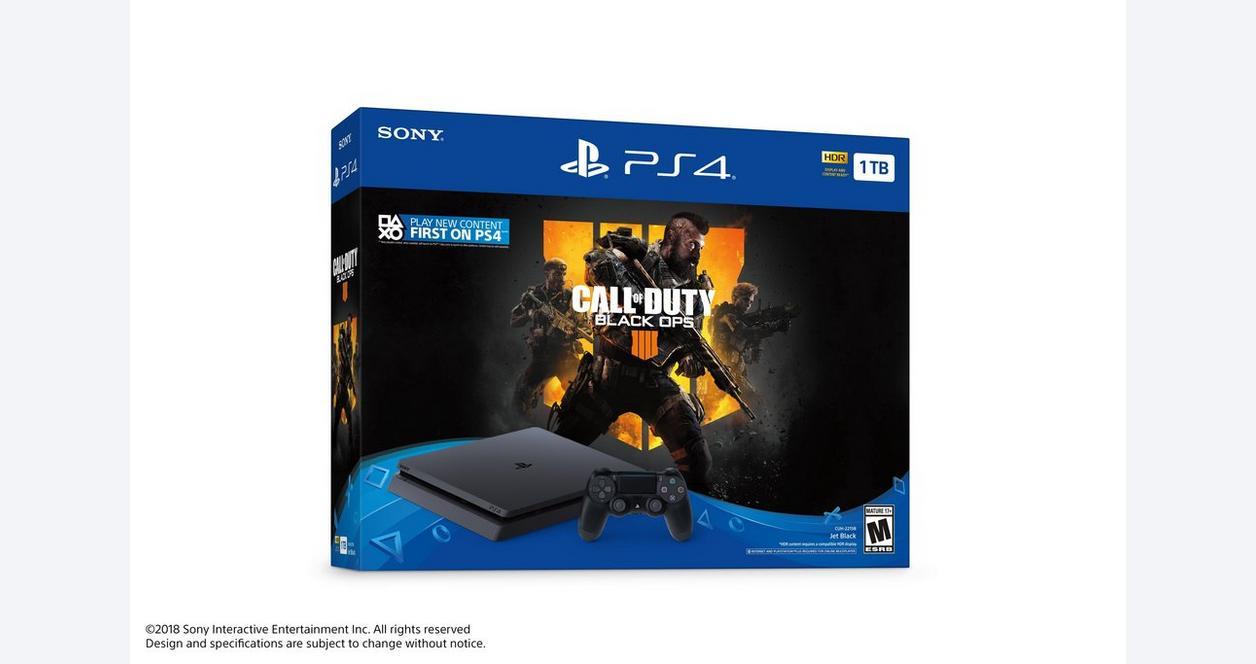 PlayStation 4 Slim Call of Duty: Black Ops 4 1TB Bundle | PlayStation 4 |  GameStop