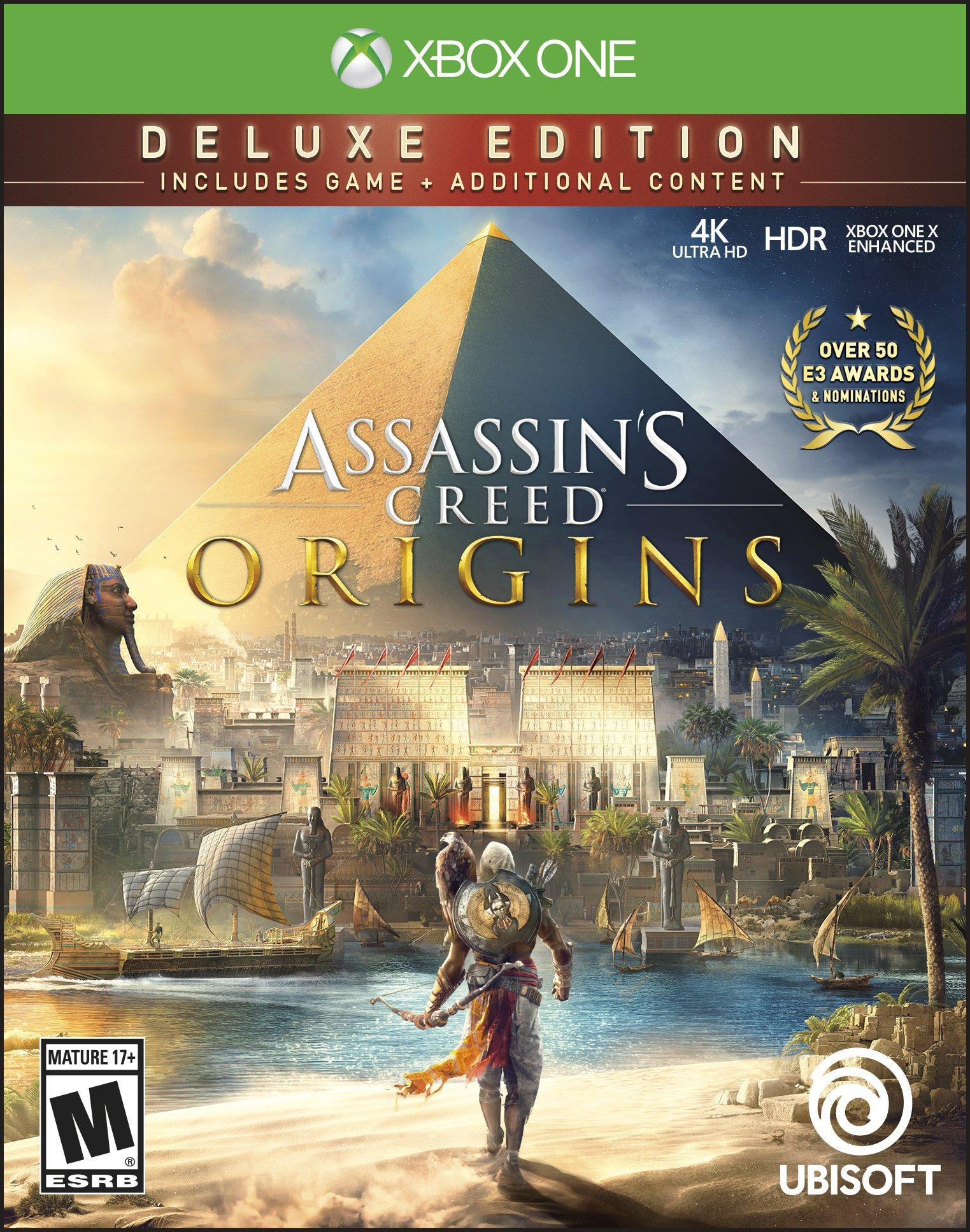 Assassin S Creed Origins Deluxe Edition Xbox One Gamestop