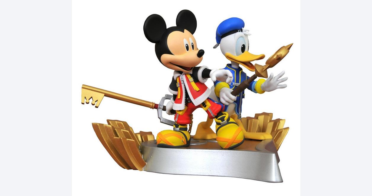 Kingdom Hearts Gallery Mickey and Donald Statue Only at GameStop
