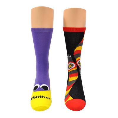 Slither Worm Crew Socks 2 Pack