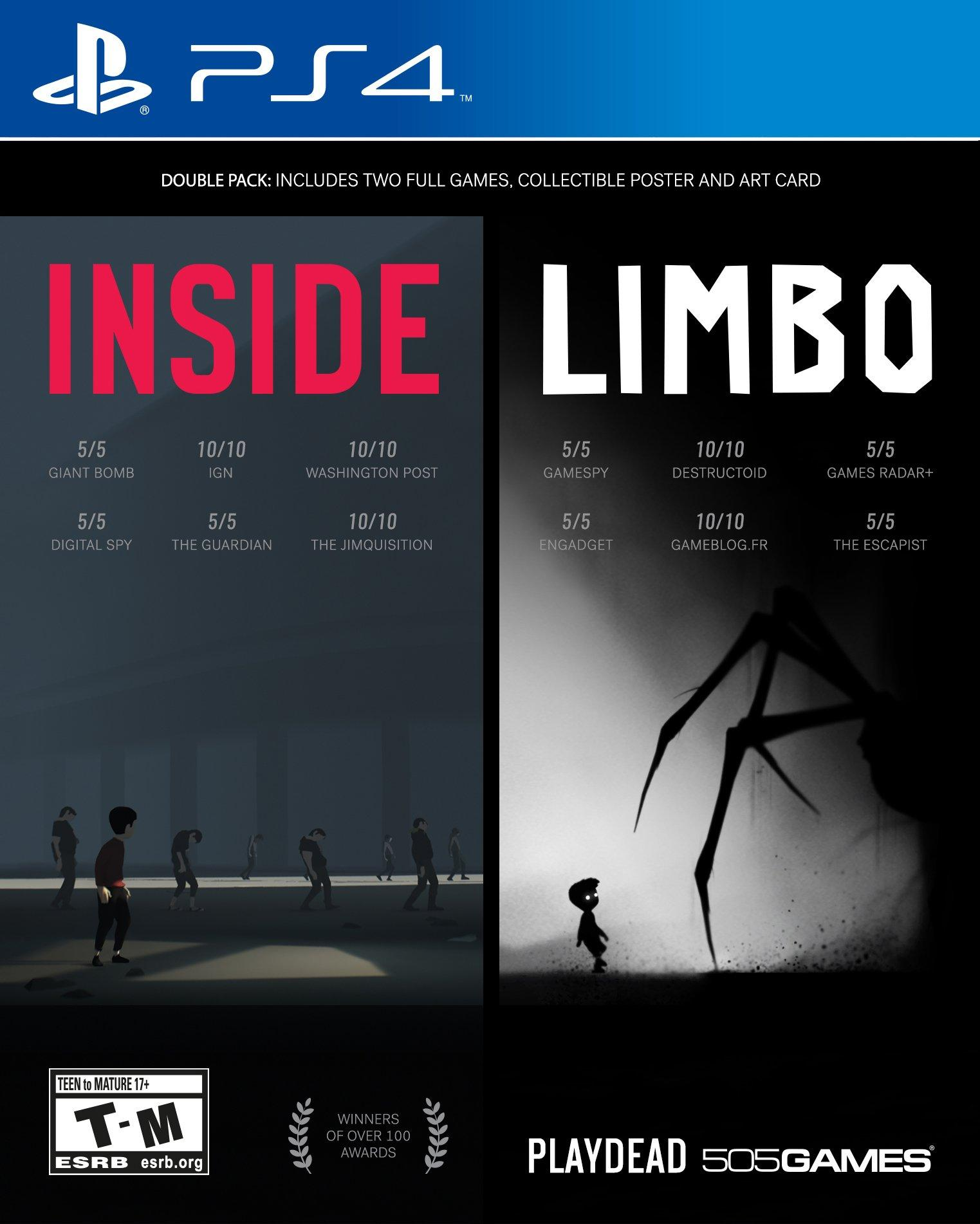 inside limbo double pack | playstation 4 | gamestop