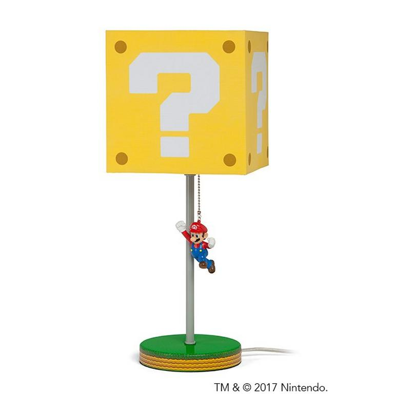Jumping Super Mario Question Block Lamp