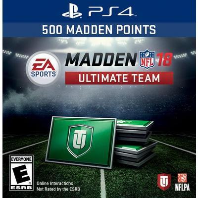Madden NFL 18 1050 Ultimate Team Points Digital Card