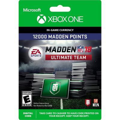 Madden NFL 18 12000 Ultimate Team Points Digital Card